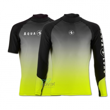AQUA LUNG - Rashguard Range UV50 Man Black Lime